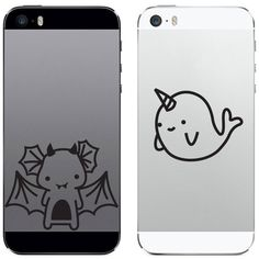 Tech Tattz Mystical Besties Narwhal and Dragon Vinyl Decal Sticker for... ($3.99) ❤ liked on Polyvore featuring accessories, tech accessories, phone case, phones and tablet smartphone