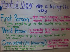 """Point of View- tough to teach...""""has"""" to be """"revisited"""" to stick!!!"""