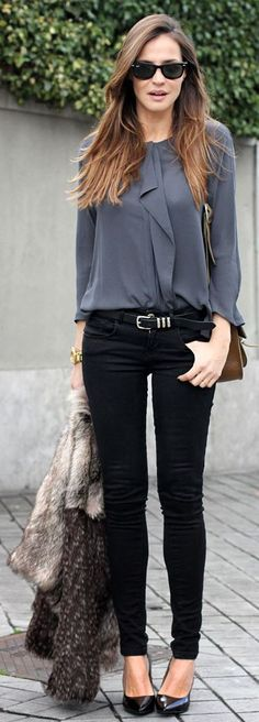 Gray Blouse by LadyAddict