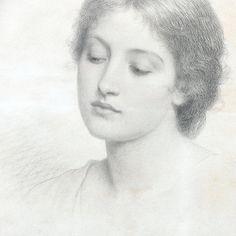 Charles Edward Perugini - Ritratto di una giovane donna, forse Kate Perugini