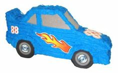 Aztec Imports Racing Car Pinata by Aztec Imports Inc.. $18.99. Pinata can be filled with up to 2lbs of toys and candy. Makes great decoration and fun party game at theme birthday parties. Made of cardboard and tissue paper. Includes strong cable tie at the top for hanging pinata. Includes opening for filling pinata. From the Manufacturer                The Racing Party Theme is popular for boys birthdays and this Racing Car Pinata matches it perfectly. Pinata come...