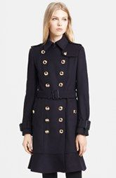Burberry London Belted Wool & Cashmere Trench Coat