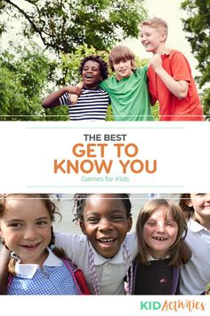 A collection of fun get to know you games for kids. Great for the first day of school or any time a new group of kids get together. Outdoor Games For Kids, Fun Games For Kids, Games For Toddlers, Get To Know You Activities, Indoor Activities For Kids, Kid Activities, Student Behavior Log, Student Rewards, Acting Games