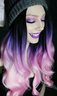 Best Girly Pink and Purple Hair Dye Ombre Hair Color, Love Hair, Gorgeous Hair, Gorgeous Eyes, Coloured Hair, Dye My Hair, Mermaid Hair, Cool Hair Color, Purple Hair, Purple Ombre