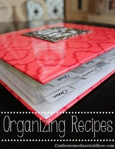 This was the perfect solution for organizing my recipes!