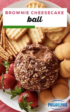 Lower Excess Fat Rooster Recipes That Basically Prime Brownie Cheesecake Ball Combine Two Desserts Into One With This Sweet Cheese Ball Pre-Made Brownies, Philadelphia Cream Cheese, Pecans, And More Combine To Create A Recipe Thats Great For Parties. Cheesecake Brownies, Cheesecake Desserts, Köstliche Desserts, Delicious Desserts, Christmas Desserts, Christmas Baking, Candy Recipes, Holiday Recipes, Dip Recipes