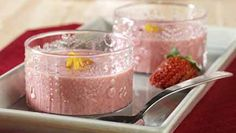 The recipe and ingredients for the American Heart Association's heart-healthy Chilled Strawberry-Raspberry Soup.