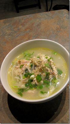 Vietnamese chicken soup (chao ga)