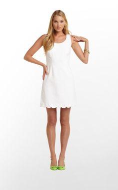 Nina Dress in Resort White $188 (w/o 3/17/13) #lillypuliter #fashion #style