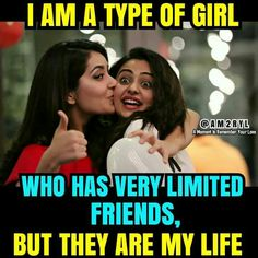Friendship goals quotes in hindi exactly dost quotes true quotes girly quotes best friend quotes friendship . Girly Attitude Quotes, Girly Quotes, Cute Quotes, Funny Quotes, Qoutes, Funny Memes, Quotes Girls, Flirting Quotes, Dating Quotes