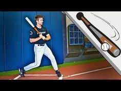 """Watch this video! Matt of ProSwingNY succinctly demonstrates how the """"back side line"""" of hips, knees and feet are connected to the movement of the hands and how they work in unison. Key point: 1.) Show this video to your kids and practice the connected back side & hand swing. Coaches- read the Washington Post article about the analysis of the Bryce Harper swing on this pin board and leave your comments!"""