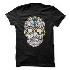 Sugar skull - #shirt prints #tee ball. I WANT THIS => https://www.sunfrog.com/Zombies/Sugar-skull-69104379-Guys.html?68278