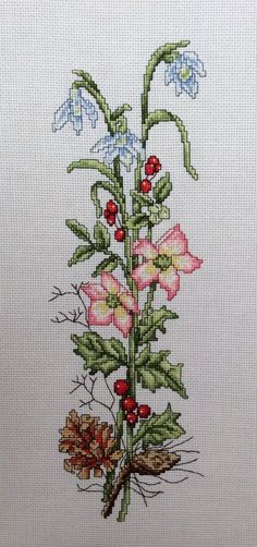 Designed by Wm Briggs & Co                    Cross stitched by Teresa: