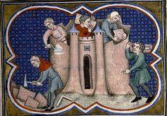 Reconstruction de Rome après les victoires de Camille. Auteur: Livius: Titre: Décades. Datation vers 1370. Paris - Bibl. Sainte-Geneviève - ms. 0777.