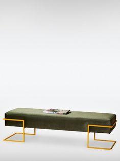 Sitzbank Babil oliv gelb Iron Furniture, Steel Furniture, Furniture Sets, Furniture Design, Diy Sofa, Table Decor Living Room, Home Decor Bedroom, Versace Furniture, Flur Design