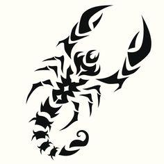 tribal scorpion design tattoo