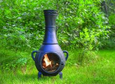 Garden outdoor heaters fire pits on pinterest for Outdoor fireplace spark arrestor