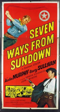 MovieArt Original Film Posters - SEVEN WAYS FROM SUNDOWN (1960) 16017, $60.00 (https://www.movieart.com/seven-ways-from-sundown-1960-16017/)