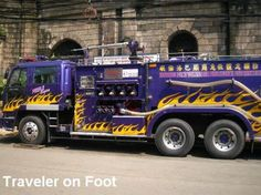 Manila Fire Dept. purple fire truck