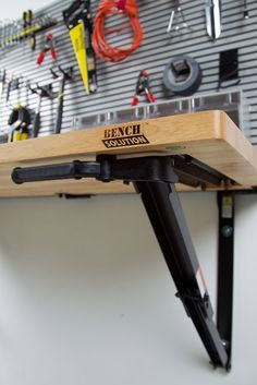 Folding Garage Workbench | Space Saving Ideas | Bench Solution