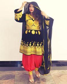 Isn't she stunning, my beautiful ❣ ° My recent photoshoot ° Hair & Makeup: nrgsi Photography: Location:… New Fashion Saree, Fashion Dresses, Women's Fashion, Afghan Wedding Dress, Afghani Clothes, Balochi Dress, Afghan Girl, Stylish Dresses For Girls, Pakistani Dresses Casual