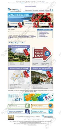 Company:  HomeAway Holiday-Rentals   Subject:  Villas, cottages and apartments for 2012 holidays              INBOXVISION is a global database and email gallery of 1.5 million B2C and B2B promotional emails and newsletter templates, providing email design ideas and email marketing intelligence http://www.inboxvision.com/blog