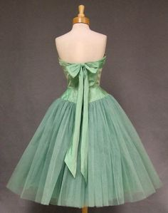 ~Will Steinman Taffeta and Tulle 1950s Prom Dress (Back)~