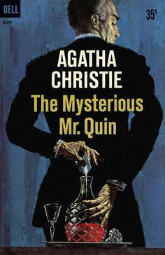 The Mysterious Mr. Quin by Agatha Christie. Dell edition, 1959. Illustration by William Teason.