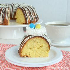 Coconut Cream Bundt Cake using 1 box vanilla cake mix (15.25 oz.) 1 box instant coconut pudding (3.4 ounce)  ETC