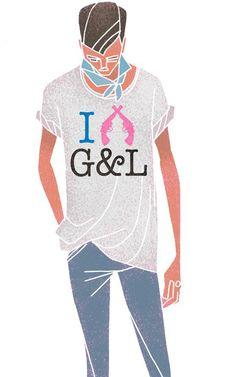 """""""Gilbert & Lewis"""" T-Shirt. Illustrator: Carlos Aponte"""