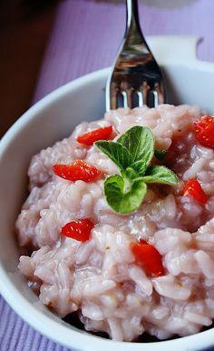 strawberies risotto