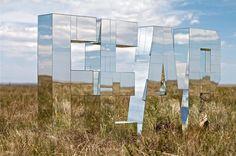 Ryan Everson's art installations. Amazing! #LightBulbs #ArtInstallations #typography
