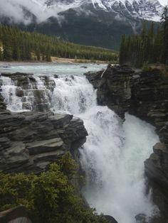#PinUpLive Athabasca Falls in Canada >>> Beautiful!