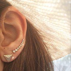 Rouelle Ear Cuff, Ear Pin, Ear Crawler, Ear Climber