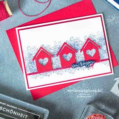 Christmas Card Crafts, Coming Home, Stamping Up, Scrapbook Cards, Stampin Up Cards, Your Cards, Card Making, New Homes, Paper Crafts