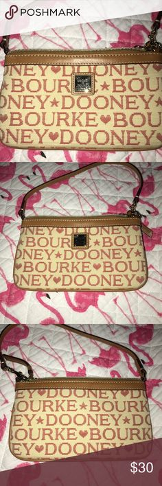 QUILTED CREAM & CORAL DOONEY AND BOURKE WRISTLET NWOT QUILTED CREAM AND CORAL DOONEY AND BOURKE WRISTLET.. RED COLOR LINING.. TAN LEATHER TRIM.. GREAT FOR EVERYDAY USE Dooney & Bourke Bags Clutches & Wristlets