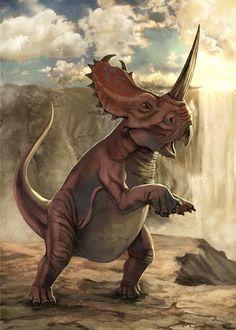 Centrosaurus with a...