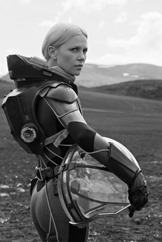 Woman Pilot or Explorer | Prometheus - Charlize Theron - Sci-Fi Alien Planet Surface