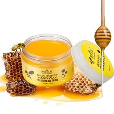 Hand Skin Care: milk-honey paraffin mask.  Used for Moisturizing, Whitening, Exfoliating hands.