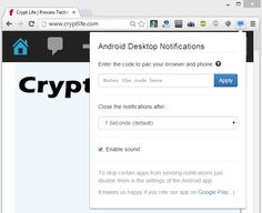 Get Android Notifications On Desktop Web Browser