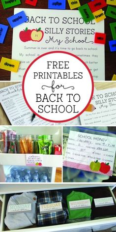 8 Free back to school printables that are adorable and fun!! Click to get yours!