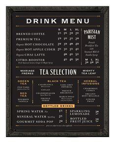 Balzacs menu board - Chad Roberts Design
