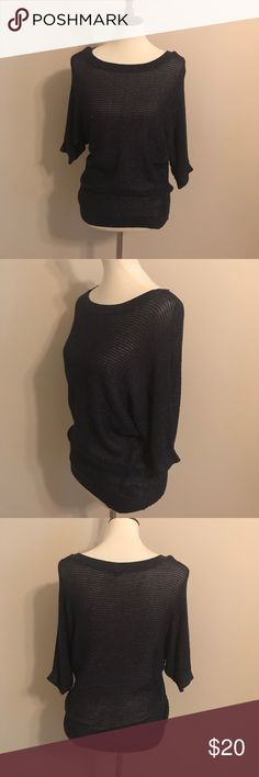 Express Navy Blue Oversize Blouse Oversized Top. Navy Blue with glitter Accent. Wore once. Size M Express Tops Blouses
