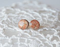 Little wooden studs with sterling silver posts by MyPieceOfWood, $16.00