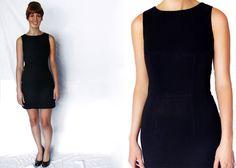 1990s Black MINI Dress Extra Small XS Tank by LoveologyVintage, $38.00