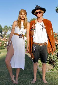 hadidnews:  April 12: More of Gigi Hadid and Cody Simpson at Coachella Day 3 in Indio, California.
