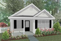 Cottage Plan: 793 Square Feet, 1-2 Bedrooms, 1 Bathroom - 286-00090 One Bedroom House Plans, Guest House Plans, Small Cottage House Plans, Small Cottage Homes, Small House Floor Plans, New House Plans, Tiny Homes, Guest Cottage Plans, Cabin Plans