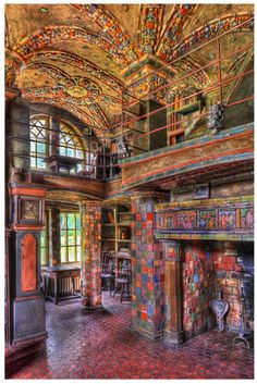 The Library at Fonthill Castle - This and the Mercer Museum & the Tile Works are all absolutely amazing and I try to visit at least once a year. Henry Mercer was quite a man.