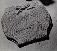 NEW! Soakers knit pattern from Handknits for Babies, Book No. 78.