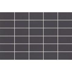 #Ragno #Colours #Mosaic Black 25x38 cm R2QS | #Porcelain stoneware | on #bathroom39.com at 20 Euro/sqm | #mosaic #bathroom #kitchen